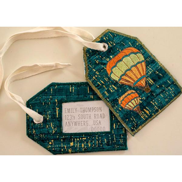 Бирка для чемодана со швейно-вышивальной машиной Brother